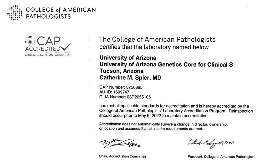 The College of American Pathologist